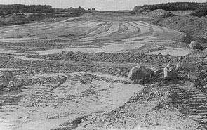 Bau der Autobahntrasse 1976