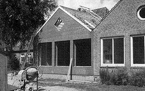 Bau des ADS-Kindergartens im Juli 1993